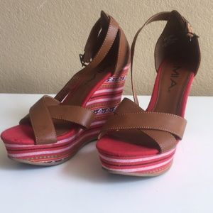 Sandal with leather straps